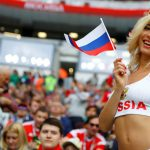 Кокетливая Наталья Немчинова на трибунах ЧМ2018
